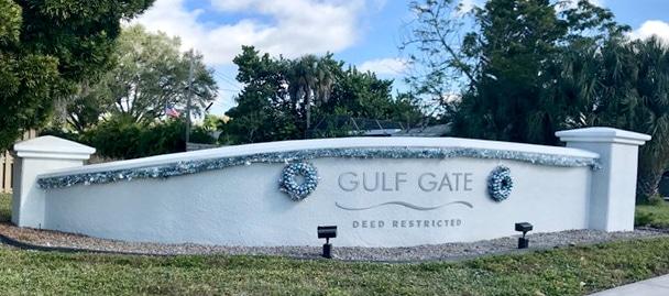 Gulf Gate Entrance Wall