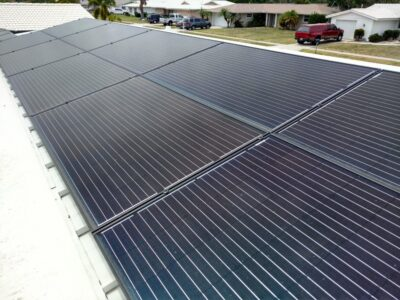 Solar Panels on Metal Roof in Gulf Gate